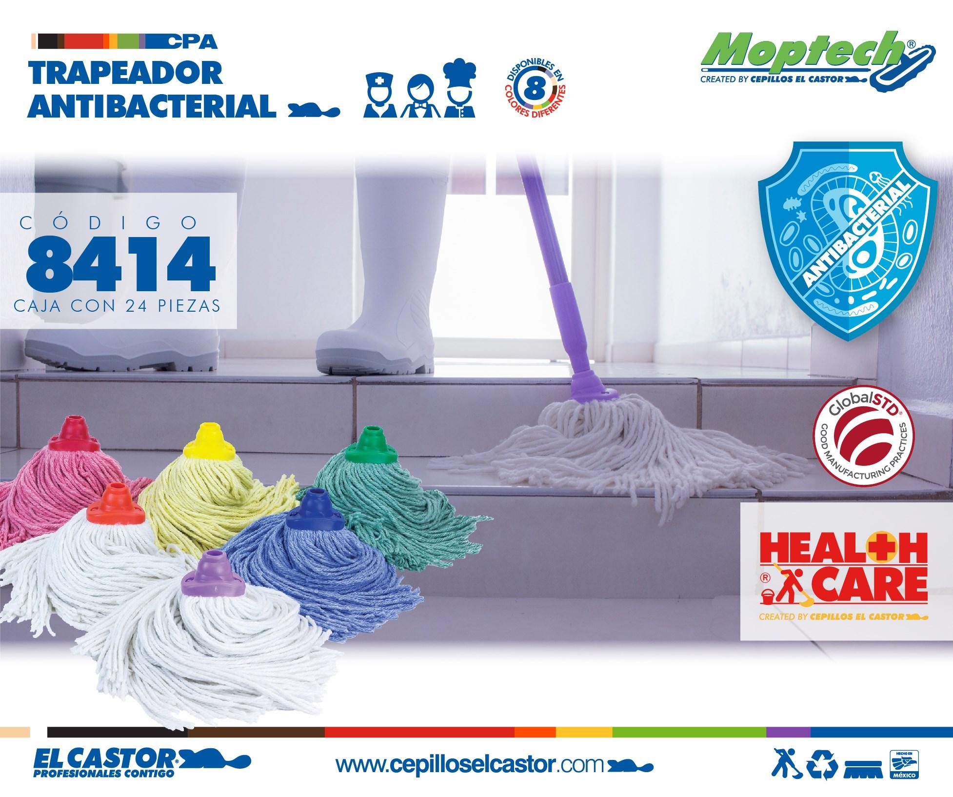 Trapeador Antibacterial 14 oz