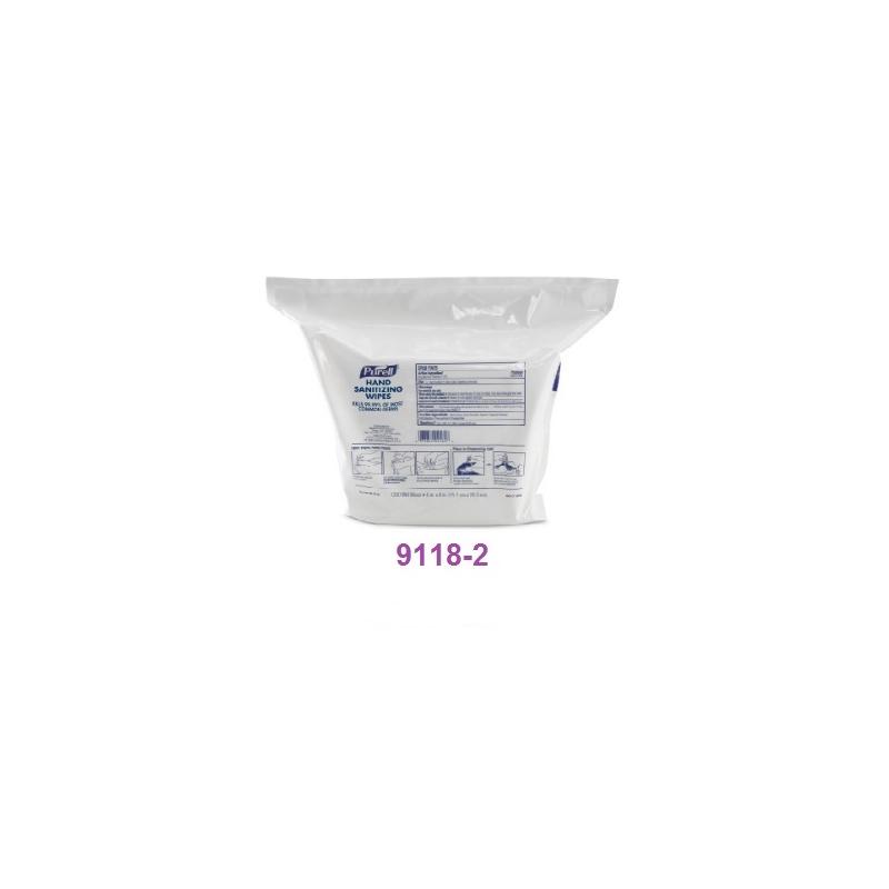 PURELL 9118-2  Hand Sanitizing Wipes 1200 C/2 PARA DESP 9019-1  Incluye IVA