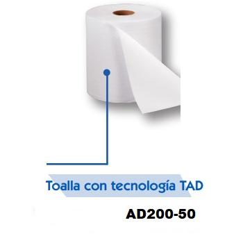 Toalla en Rollo Sistema AD Código Automático para despachador AD247-03  C/ 6 rollos de 225 metros  INCLUYE IVA