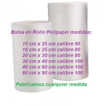 Bolsa en Rollo Polipapel varias medidad INCLUYE IVA Precio por Kg.