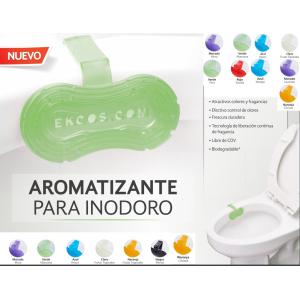 Caja 10 piezas ekcoclip Pastilla desodorante para inodoro. Precio por pieza. Duración 30 días. Incluye IVA
