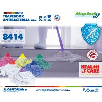 Trapeador Antibacterial  14 oz Amarillo, Verde, Azul, Rojo, Blanco, naranja y morado