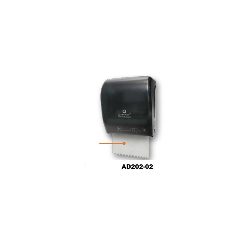 Despachador Toalla en Rollo Auto corte compacto Dark/Traslucido. Incluye IVA