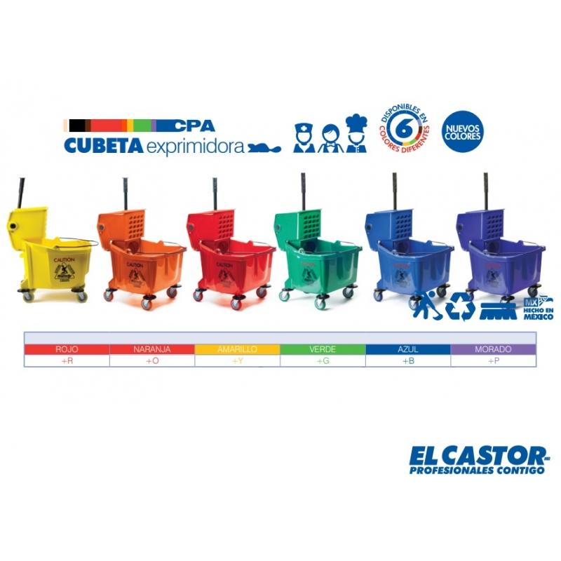 Cubeta Exprimidora El castor Rojo 32 lt Incluye IVA